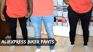 Men 39 s AliExpress Haul Biker Jeans Biker Joggers dyrandoms