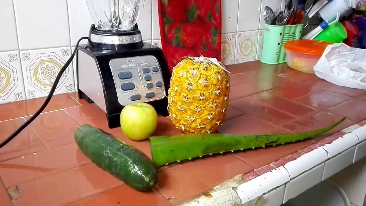 como preparar el jugo de pina y pepino para adelgazar