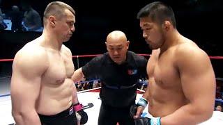 Professional croatian heavyweight mma and kickboxing fighter Mirko Filipovic against japaneese talented athlete and olympic judo champion Satoshi Ishii.