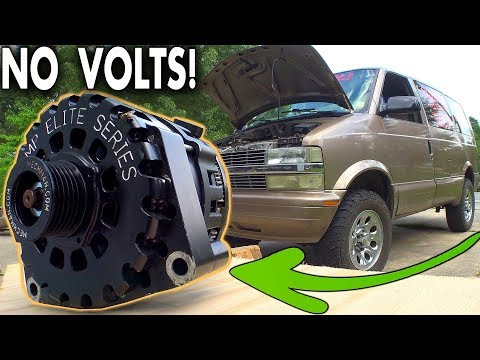 Finding a BLOWN Alternator... Installing & Testing Most POWERFUL High Output Alt in Chevy ASTRO Van