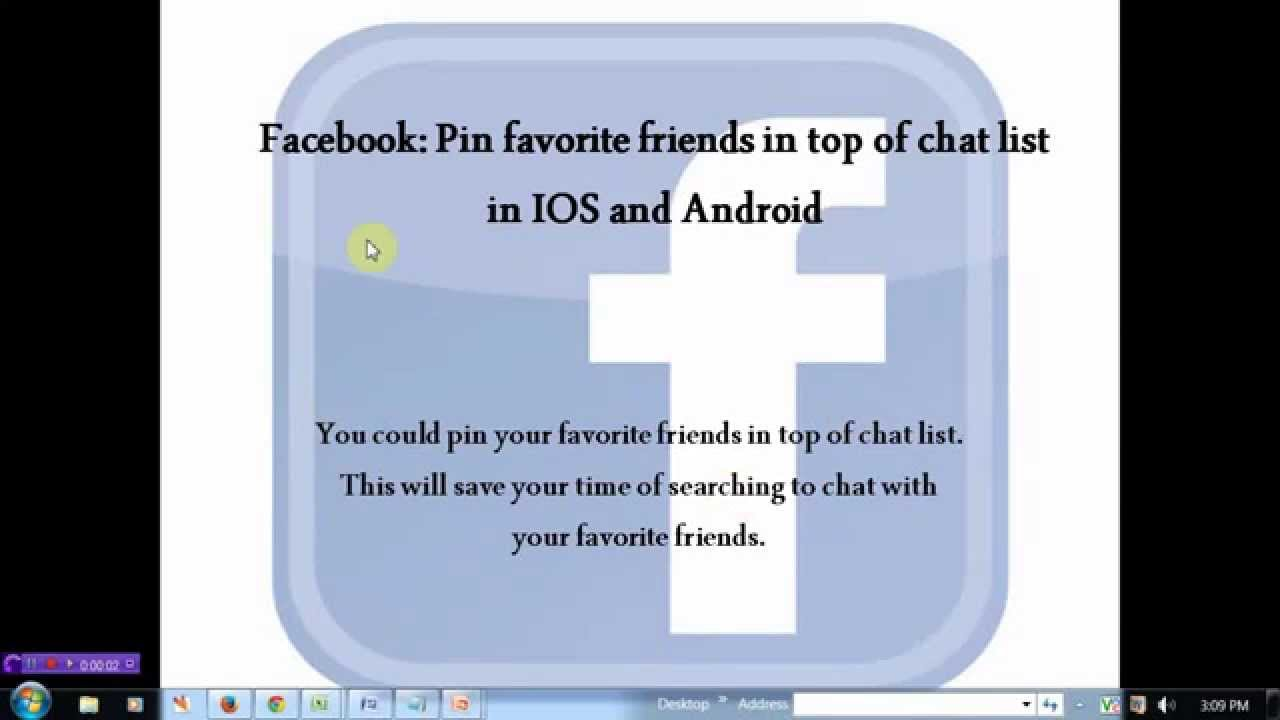 Add Favorite Friends In Top Of Facebook Chat List Youtube