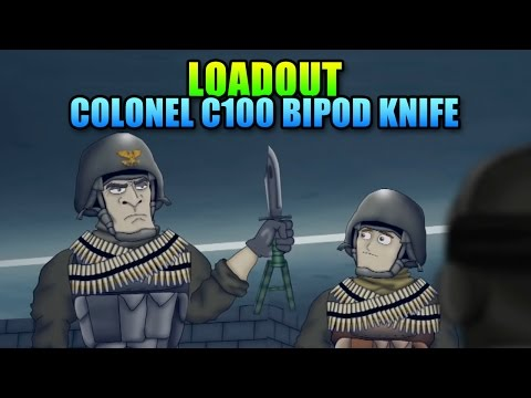 Loadout Colonel 100 Bipod Knife C100 | Battlefield 4 Melee Gameplay