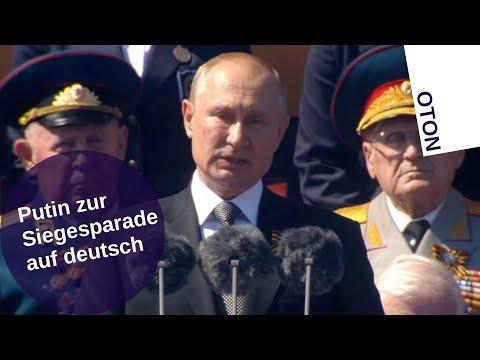 Putin zur Siegesparade auf deutsch