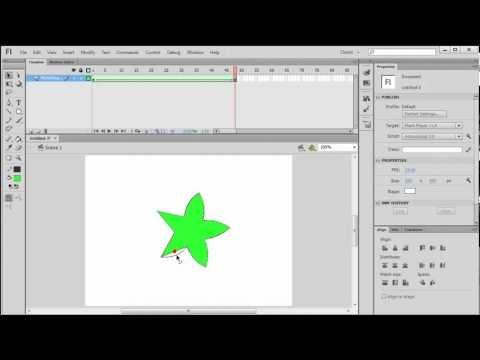 Create a Shape Tween in Flash