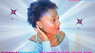 How To: Step by Step Tutorial on Bantu Knot Out on short natural 4c hair