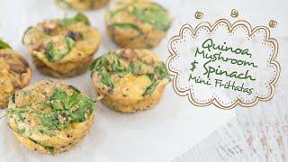 Quinoa, Mushroom & Spinach Fritattas