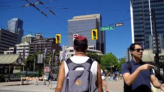 ROBSON Street - Walking in Vancouver BC Canada - Shopping Road in Downtown 2018