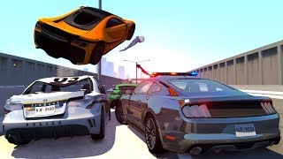 Supercar High Speed Police Chases - BeamNG Drive Crash Compilation