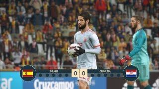 PES 2019 I SPAIN vs CROATIA I UEFA NATIONS LEAGUE I Penalty Shootout