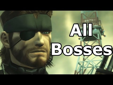 Metal Gear Solid 3 Snake Eater - All Bosses / Boss Fights