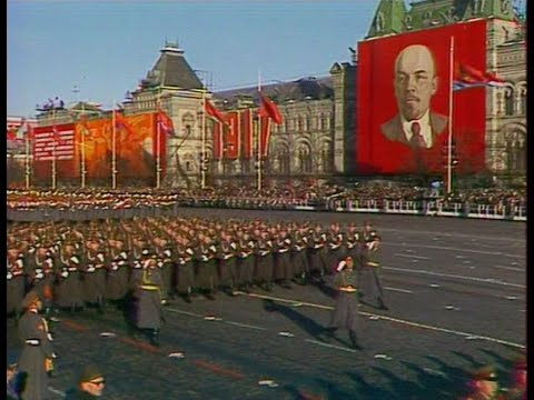 HD Soviet October Revolution Parade, 1978 Part I Парад 7 Ноября