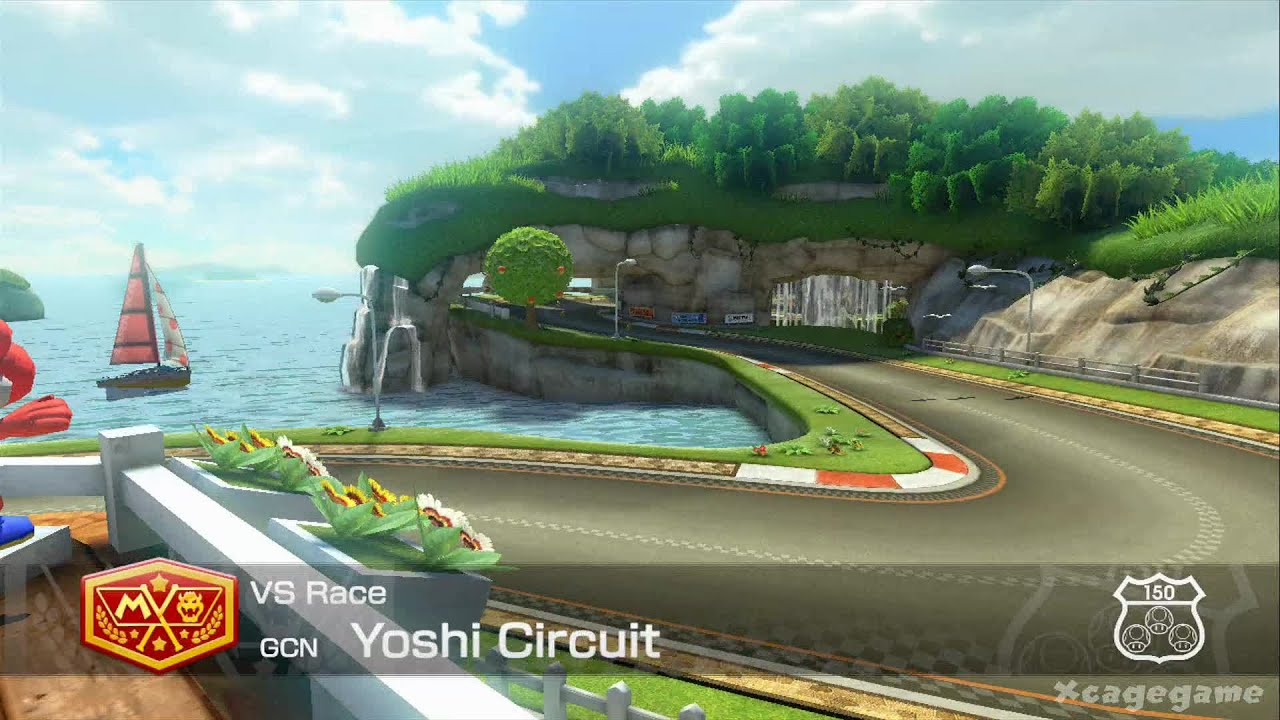mario kart 8 dlc gameplay gcn yoshi circuit hd youtube. Black Bedroom Furniture Sets. Home Design Ideas