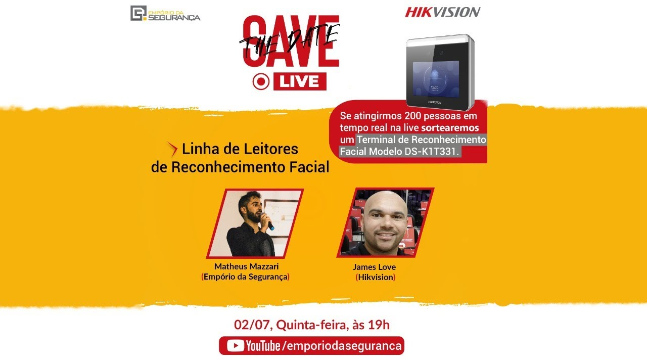 LIVE | Linha de Leitores de Reconhecimento Facial + SORTEIO de Leitor!