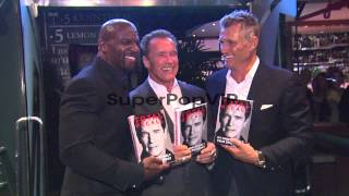 Terry Crews, Arnold Schwarzenegger, Dolph Lundgren at Arn...