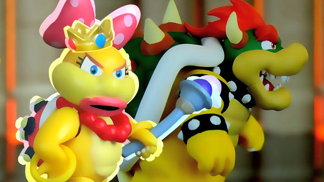 Paper mario princess peach gives bowser a handjob - 1 3