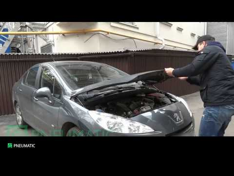 газовые упоры для капота peugeot 408