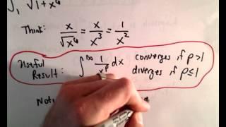 Direct Comparison Test for ( Improper ) Integrals