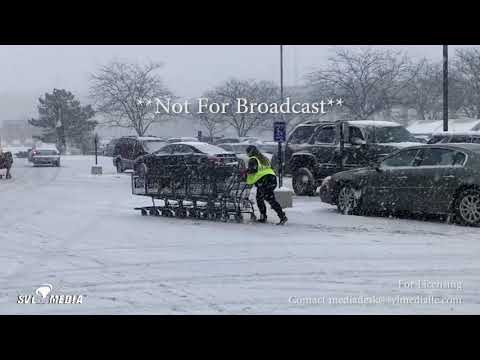 Michigan City, Indiana - Lake Effect Snow/Waves Crashing - February 4th, 2018