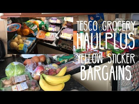 TESCO GROCERY HAUL & MEAL PLAN (PLUS YELLOW STICKER BARGAINS)