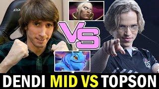 TOPSON mid vs DENDI — Signature Hero vs 7.23 Favourite Hero Dota2