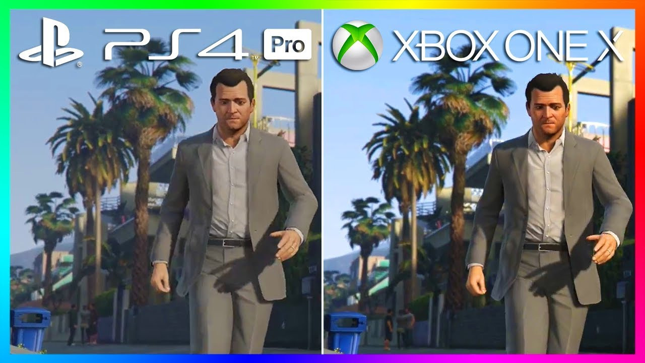 ps4 pro vs xbox one s gta 5