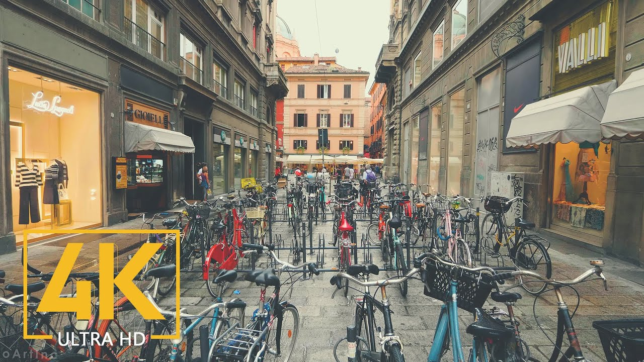 Bologna Walking Tour in 4K - Virtual City Tour - Top Italian Destinations