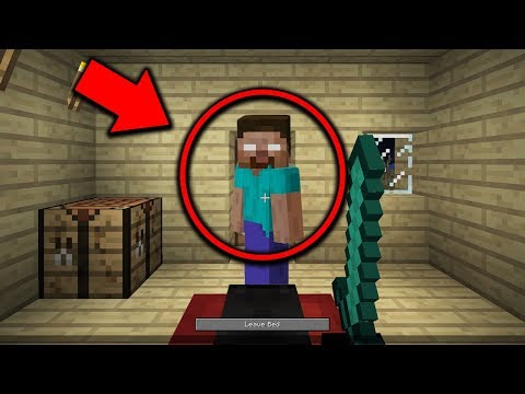 Why you should NEVER Sleep in Minecraft Pocket Edition... (HEROBRINE IS WATCHING!)