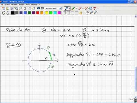 L017 Analisi Matematica I 2007 08 Dimostrazione Dei Principali Limiti Notevoli
