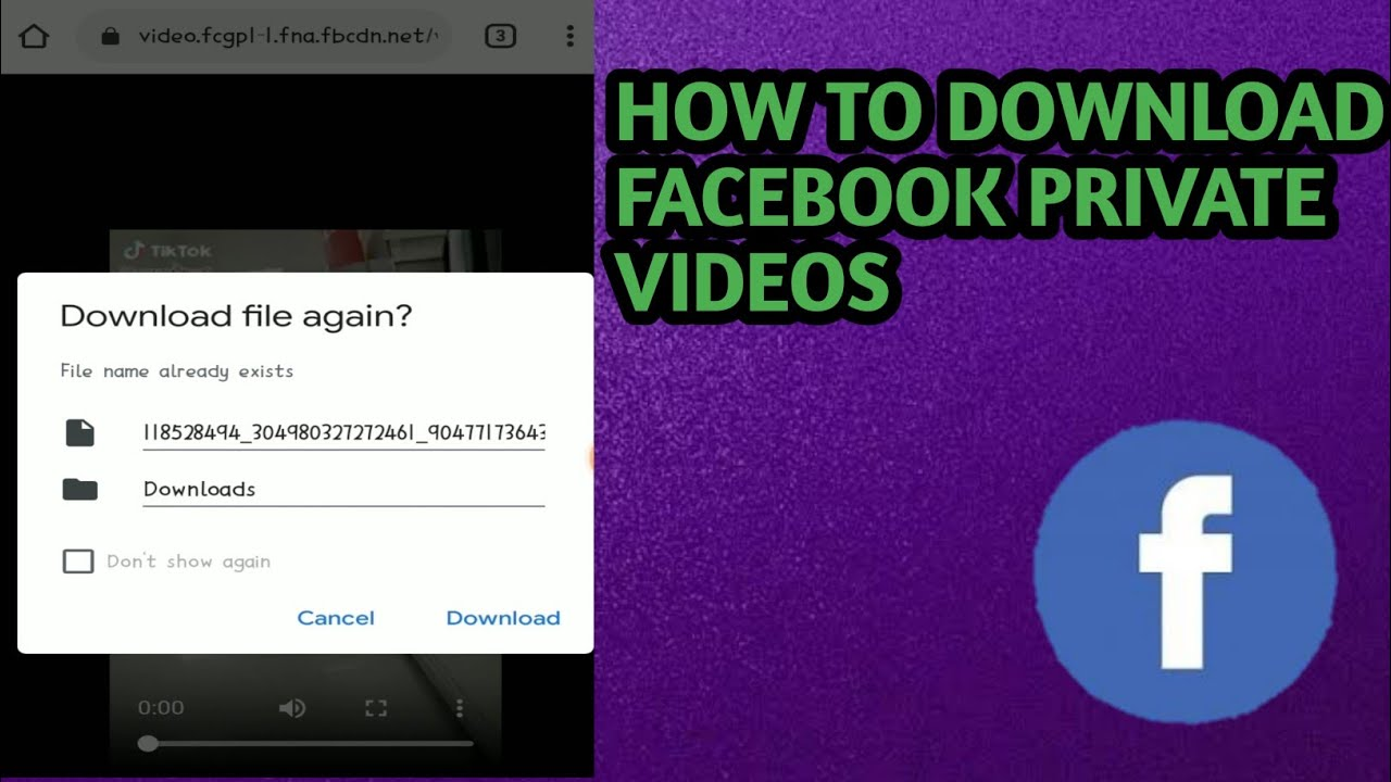 How To Download Private Facebook Videos Dswon Youtube