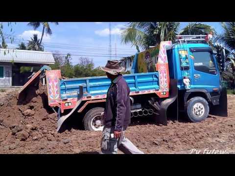 รถบรรทุก รถดั้ม 6 ล้อ เทดิน ถมที่  (มันส์มาก)  Trucks Thailand