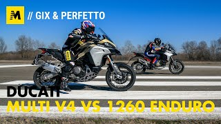 Ducati Multistrada V4 vs 1260 Enduro. TEST completo strada, offroad e pista! [ENGLISH SUB]