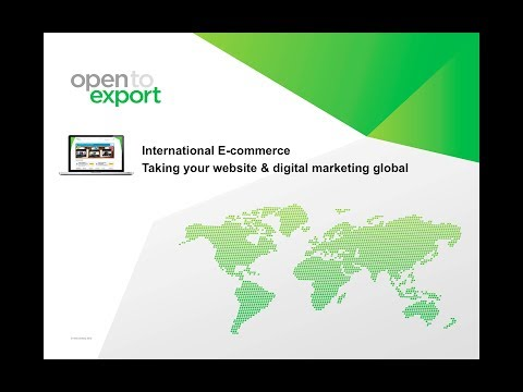International E-commerce | Taking your website & digital marketing global