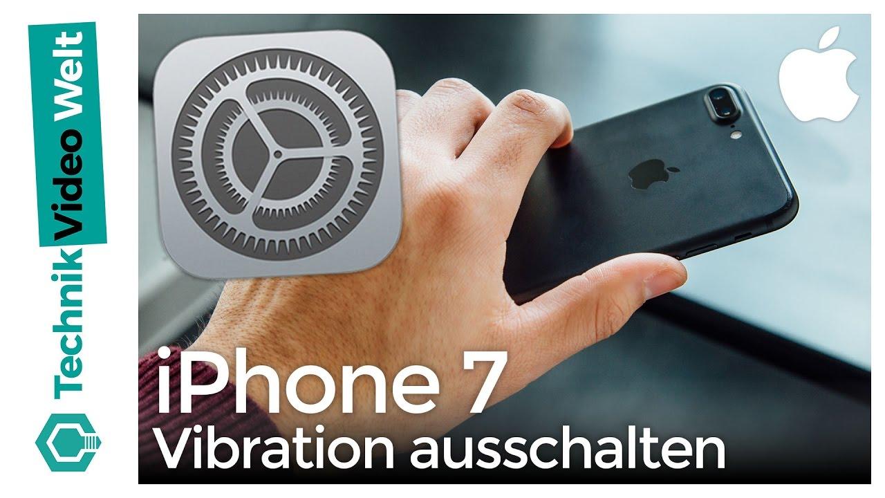 iPhone 7 Vibration ausschalten - YouTube