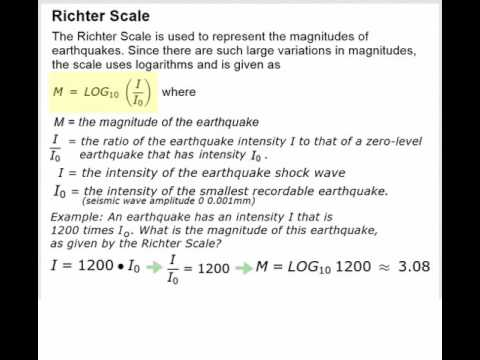 Logarithmic Scales - pH and Richter Scale - YouTube