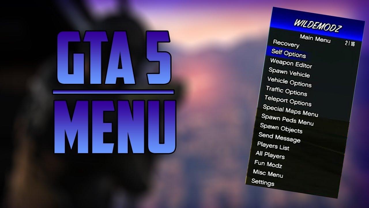 WildemodzSPRX mod menu GTA V (1 27/PS3/CFW) + Download