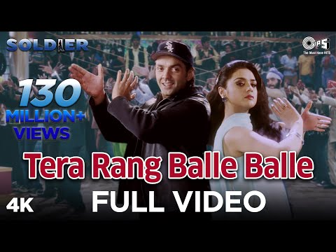 Tera Rang Balle Balle Full Video - Soldier I Bobby Deol & Preity Zinta I Sonu & Jaspinder