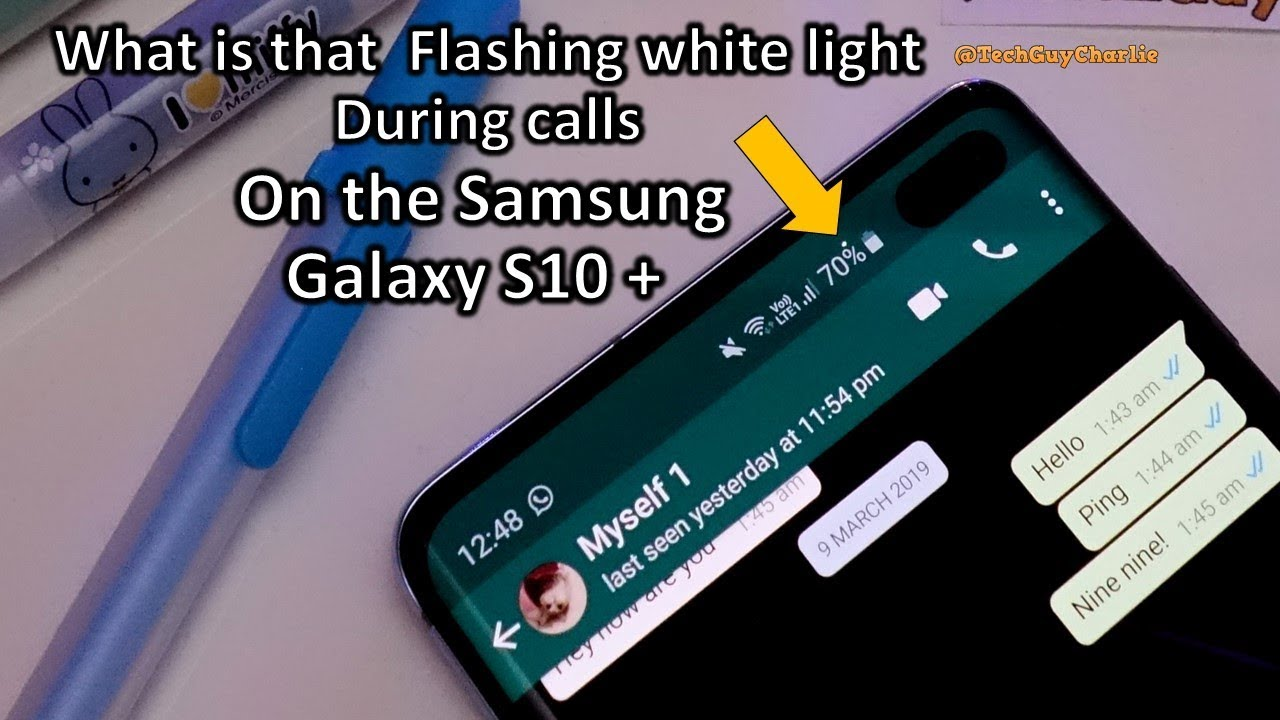Galaxy S10+ blinking white light on the display during calls - The  proximity sensor