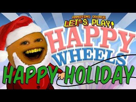 Annoying orange let 39 s play happy wheels youtube - Let s play happy wheels ...