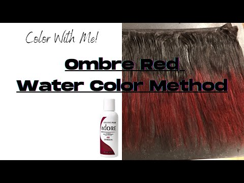 Adore Crimson | Ombre' Red | Water Color Method | Weave