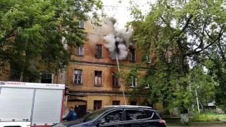 Тушение пожара на 1 Советском переулке 19