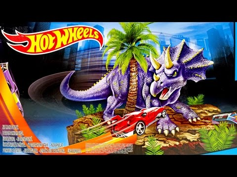 Hot Wheels Track HW City Dino Spinout With One Hot Wheels Car ★ For Kids Worldwide ★