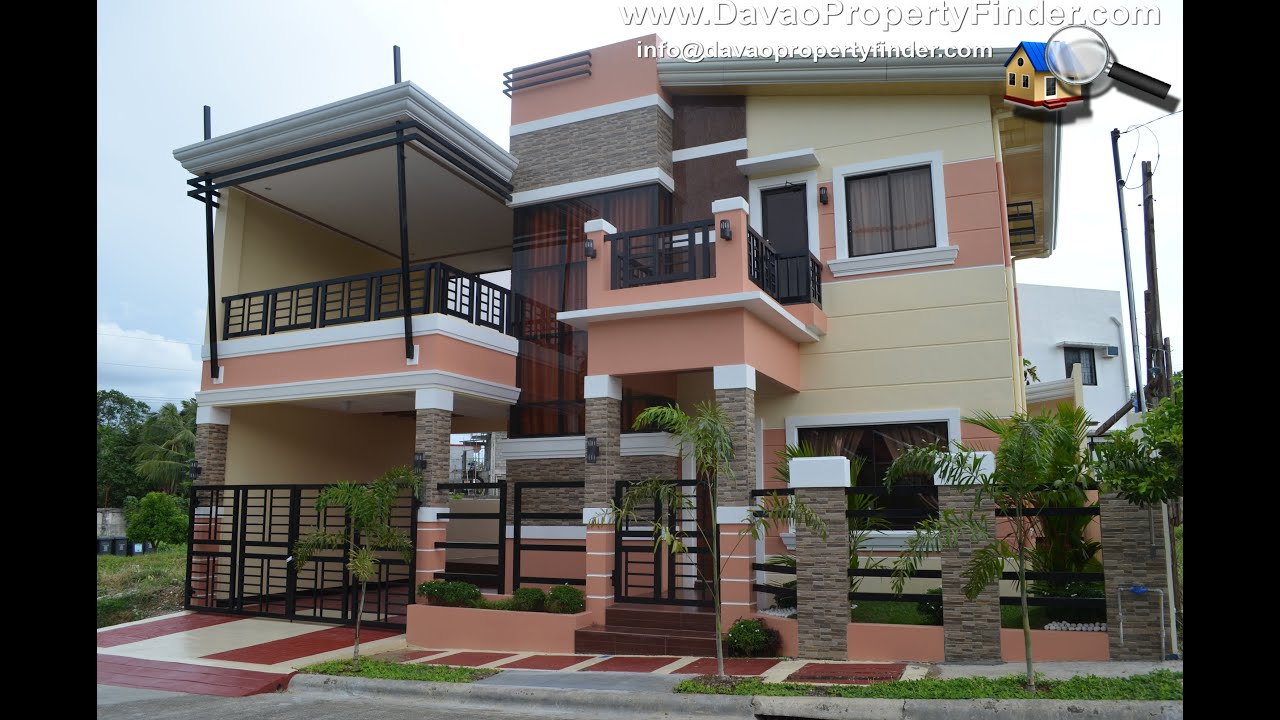 Small two story house plans with balcony design for Pictures of two story houses in the philippines