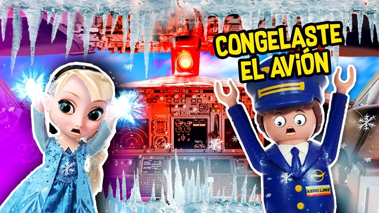 ELSA CONGELA el AVIÓN de las PRINCESAS DISNEY 💖 VIAJE a DISNEY! 🎢 Juguetes Fantásticos