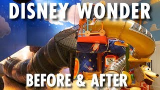 Disney Wonder Before & After (2012/2016) ~ Disney Cruise Line ~ Cruise Ship Redesign Tour