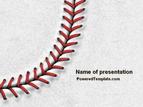 Baseball Stitching Powerpoint Template By PoweredtemplateCom