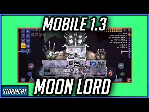 MOBILE TERRARIA 1.3 BETA MOON LORD GAMEPLAY! TERRARIA MOBILE 1.3 BETA MOON LORD BOSS!