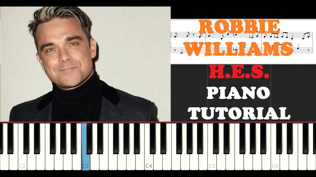 Robbie Williams - Heavy Entertainment Show (Piano Tutorial)