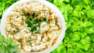 Chicken Breast Salad Recipe with Sour Cream & Vegetables