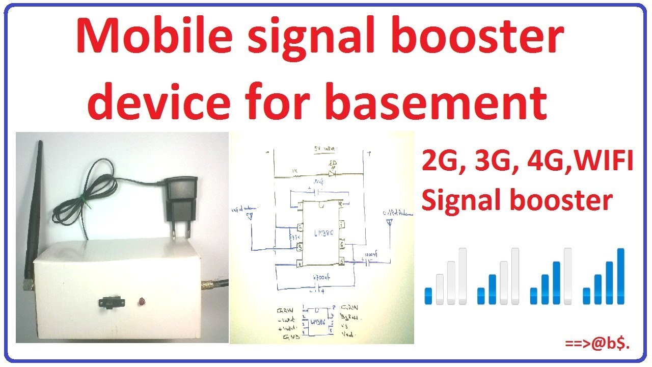 How To Make Mobile Signal Booster For Basement - Homemade 2g 3g 4g Wifi Device