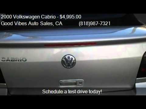 2000 Volkswagen Cabrio GLS - for sale in North Hollywood, CA
